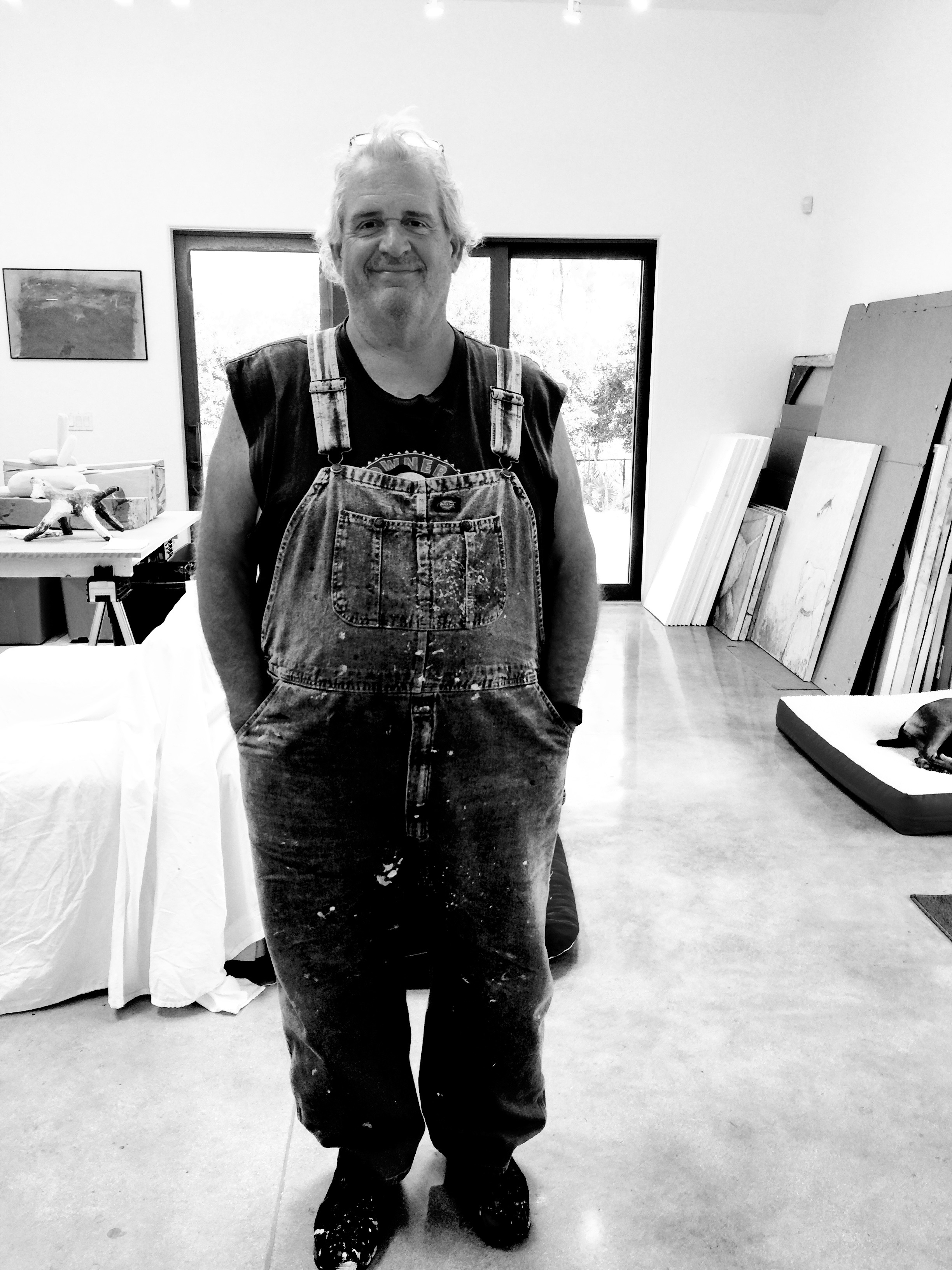 Skip Hartzell at his studio