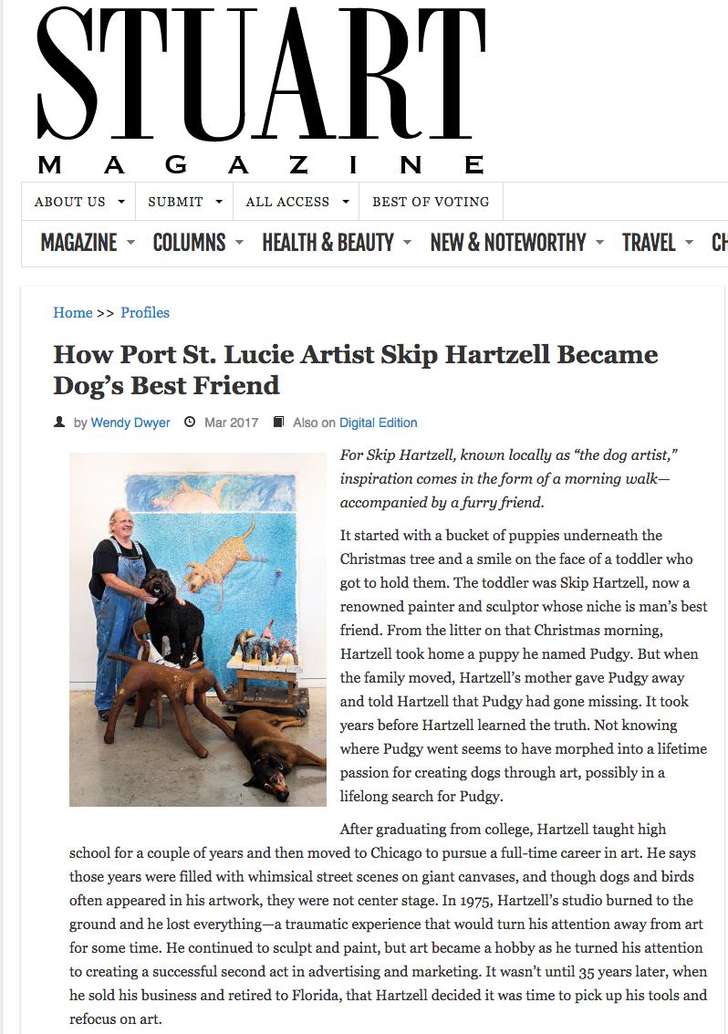 How Port St. Lucie Artist Skip Hartzell Became Dog's Best Friend